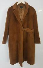 Jaeger Conker Caramel Brown Alpaca Wool Half Belt Coat Max Lux Size 12 UK  VGC