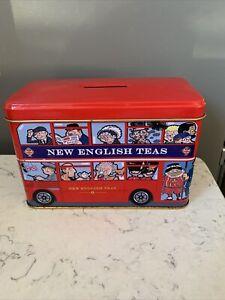 Mini Red London Bus English Afternoon Tea Tin / Money Box