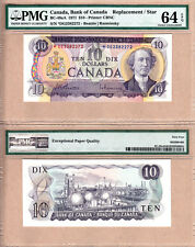 1971 $10 BC-49aA *DG Replacement Bank of Canada Note; PMG Choice UNC64 EPQ
