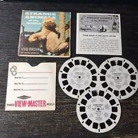 Vintage View-Master 3-Reel Set Strange Animals Of The World Complete EUC A558
