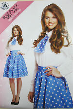 Ladies Blue & White Spotty Circle Skirt 1950s Rock & Roll Fancy Dress