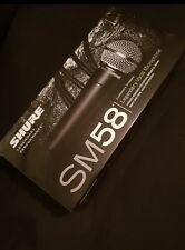 UNUSED Shure sm58 Vocal Dynamic Microphone with carry bag and Mic stand clip