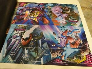 Pokemon Unified Minds 2 Player Deluxe Playmat Card Game Play Mat New!