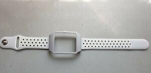 Sony SmartWatch 3 SWR50  Silver Housing  & White + White Dots Silicone Strap