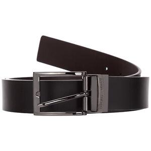 Emporio Armani ceinture homme Y4S195YTX1J88044 cuir h 3.5 cm réglable Black / Da