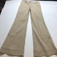 Level 99 Tan Wide Leg Trouser Pants Sz 29 Anthropologie A1557