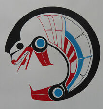 """Northwest Coast Canadian native artist Ben Houstie """"Seal"""" Original Art"""