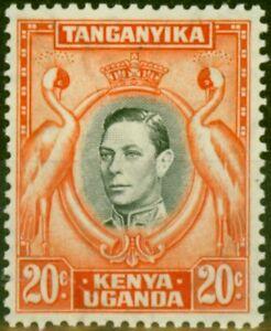 K.U.T 1938 20c Black & Orange SG139 P.13.25 Fine Mtd Mint (2)