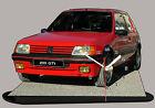 AUTO PEUGEOT 205 GTI -03, AUTO IN OROLOGIO MINIATURA