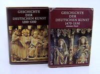 Geschichte der Deutschen Kunst 2 Bände der Jahre 1200-1350 & 1470-1550