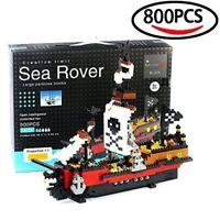 Pirate Ship Large Building Blocks Caribbean Sea Rover- 800 pcs X-mas Gift -LEGO