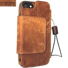 genuine leather Case for iphone 7 wallet book cover magnetic Removable hand made