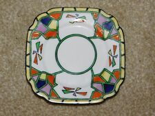 STANDARD CHINA BRIGHTLY COLOURED GEOMETRIC ART DECO SMALL PLATE no.744111