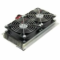 Thermoelectric Peltier Refrigeration Cooling System Kit Cooler Double Fan Kit