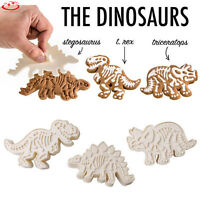 3Pcs Dinosaur Shape Biscuit Cookie Cutters Fondant Cake Decor Mold Mould Tool