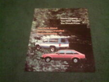 Escort Car Sales Brochures 1983