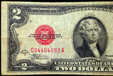 1928-D MULE $2 Two Dollar Bill US Currency, 1928D C-A Series United States Note
