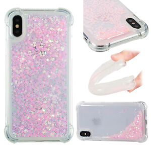 2018 Soft Hybrid Bling Quicksand Painting Case Cover For Android Phone iPhone X