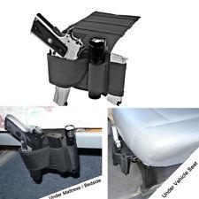 Concealed Under Car Seat/Bed Pistol Gun Holster&Flashlight Loop Pouch bag Adjust