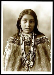⫸ 909 Postcard HATTIE TOM Apache Native American Indian 1899 Reinhart Photo NEW