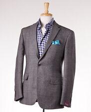 NWT $2795 SARTORIA PARTENOPEA Gray Glen Plaid Wool Sport Coat Slim 38 R (Eu 48)