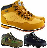 MENS GENT LACE UP ANKLE HIKING WALKINH GRIP SOLE NEW WINTER TRAINERS BOOTS SIZE