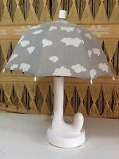 Vintage Parasol Lamp Umbrella Night Light Shade Gray White Clouds UNIQUE