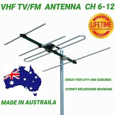 VHF TV/FM antenna ch 6-12 4 hdtv outdoor digital matchmaster quality 03MM DR3004