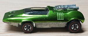 Hot Wheels Redlines PEEPING BOMB w/ metal badge. Near Mint! Bright Apple Green!