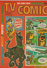 TV COMIC No. 1480 from 1980 with unused free gift stickers