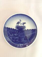 Royal Copenhagen Miniature Plate Storks In Nest Storkeredes