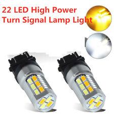 Amber/White 3157 3757 Switchback 22 LED High Power Turn Signal Lamp Light Bulb