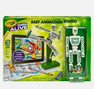 NEW Crayola Color Alive Easy Animation Toy Studio 3D Graphics Mannequin Stand