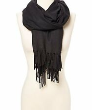Pashmina Cashmere Scarf Shawl Wrap Plain Stole Silk Soft Women Men Wool Warm Sol