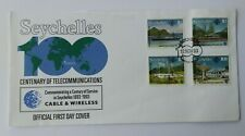 Seychelles 1993 SG:840/43 Centenary of Telecommunications FDC