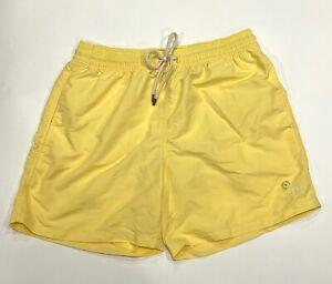 NEW Polo Ralph Lauren Mens Pony Logo Traveler Swim Trunk Swimwear M Yellow