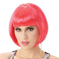Pink Ladies Womens Fancy Dress Wig Bob Style Full Short Hair Wig Party Cosplay