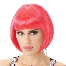 Vestido de lujo Pink Ladies Mujeres de la peluca peluca completa de Pelo Corto Estilo Bob Fiesta Disfraz para Juegos con