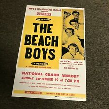 Beach Boys 1965 New York El Corrals Cardstock Concert Poster 12x18