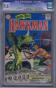 Brave and the Bold #34 DC 1961 CGC 7.5 (VF -)1st app./Origin SA Hawkman/Hawkgirl