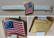 Montre bracelet mécanique watch bicentennial 1776-1976 USA America's birthday