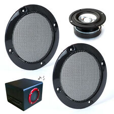 "2x New Black DIY 3"" Auto Speaker Decorative Protective Circle Mesh Circle Grille"