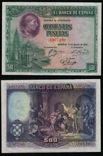 500 Pesetas año 1928. Cardenal Cisneros. Sin Serie nº 1977180. BONITO EBC-/EBC.