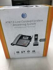 AT&T E2562 2.4 GHz 2 Lines Corded / Cordless Phone Original Open Box