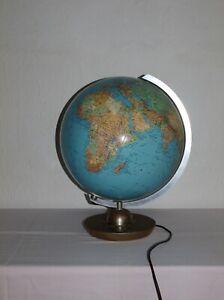 Vintage Globus JRO Glasglobus BELEUCHTET 60er 70er Mid Century Globe