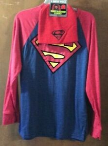 Superman Shirt and Beanie Combo Boys L (10-12) Red Blue Yellow  NWT
