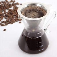 Edelstahl Kaffeefilter Wiederverwendbare Dauerfilter Mesh Kaffee Tassenfilter DE