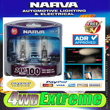 NARVA H1 24V 70W PLUS 100 TRUCK GLOBES 48705BL2 LIGHTS HEADLIGHTS UPGRADE BULBS