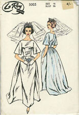 Vintage Bridal Gown Dress Sewing Pattern L5003 Size 16