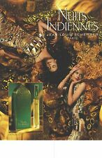 "PUBLICITE  1998   JEAN LOUIS SCHERRER parfum "" NUITS INDIENNES """
